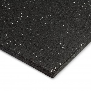 Commercial Rubber Gym Mat – Grey Fleck 1m x 1m x 15mm