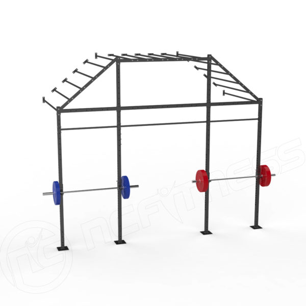 X-Series WM14-M-CR Wall Mount Monkey Bar Rack With Centre Rise
