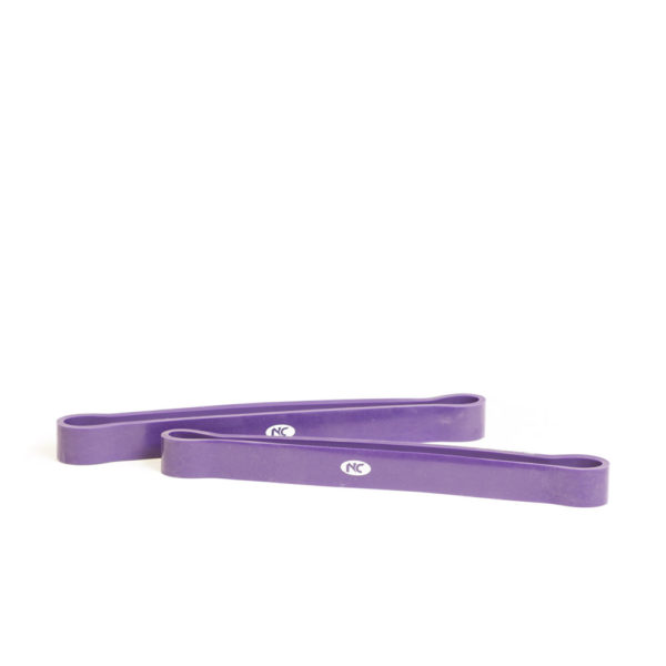 Resistance Band 12 Inch Pair Purple 25mm Wide