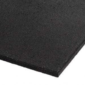 Commercial Rubber Gym Mat - Black 1m x 1m x 15mm